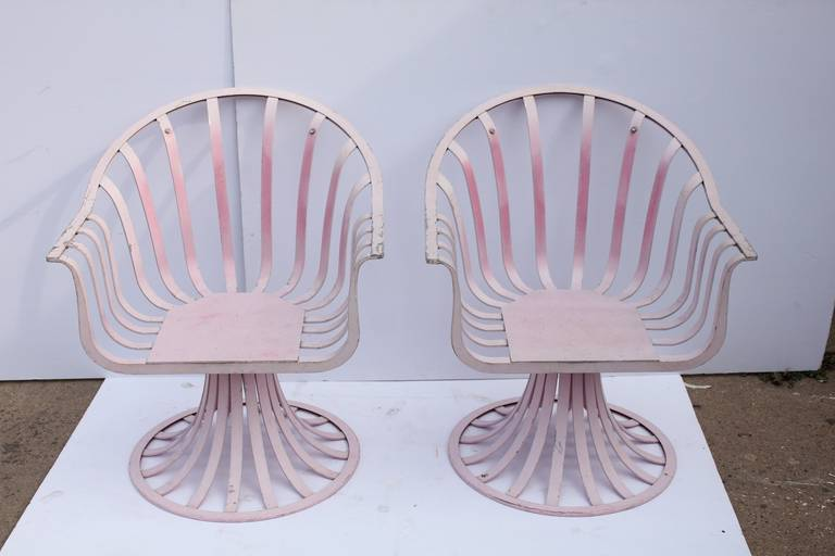 American Mid-Century Lounge Chairs by Russell Woodard For Sale