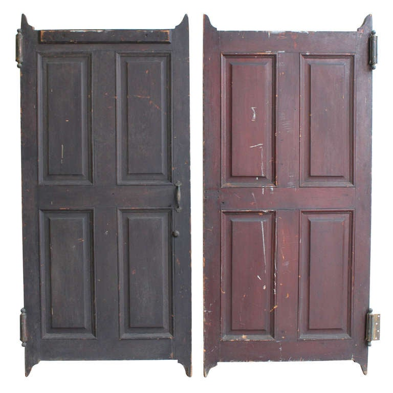 Antique Wood Swinging Saloon Doors 1 - Antique Wood Swinging Saloon Doors For Sale At 1stdibs