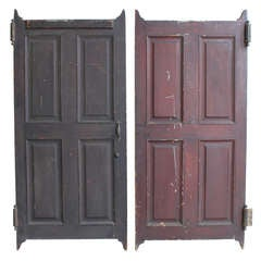 Antique Wood Swinging Saloon Doors