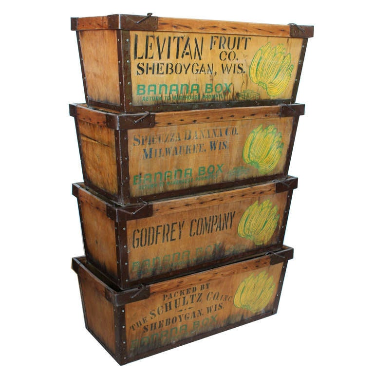 vintage large banana crate at 1stdibs