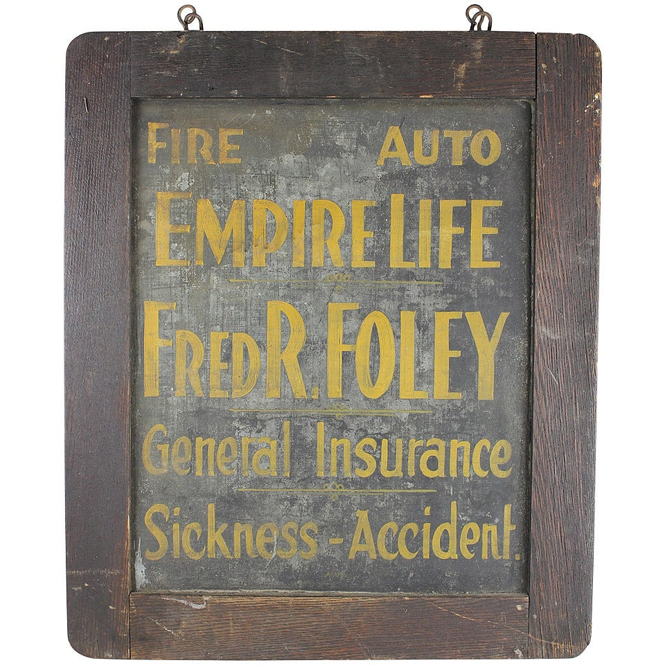 Antique Tin Insurance Sign