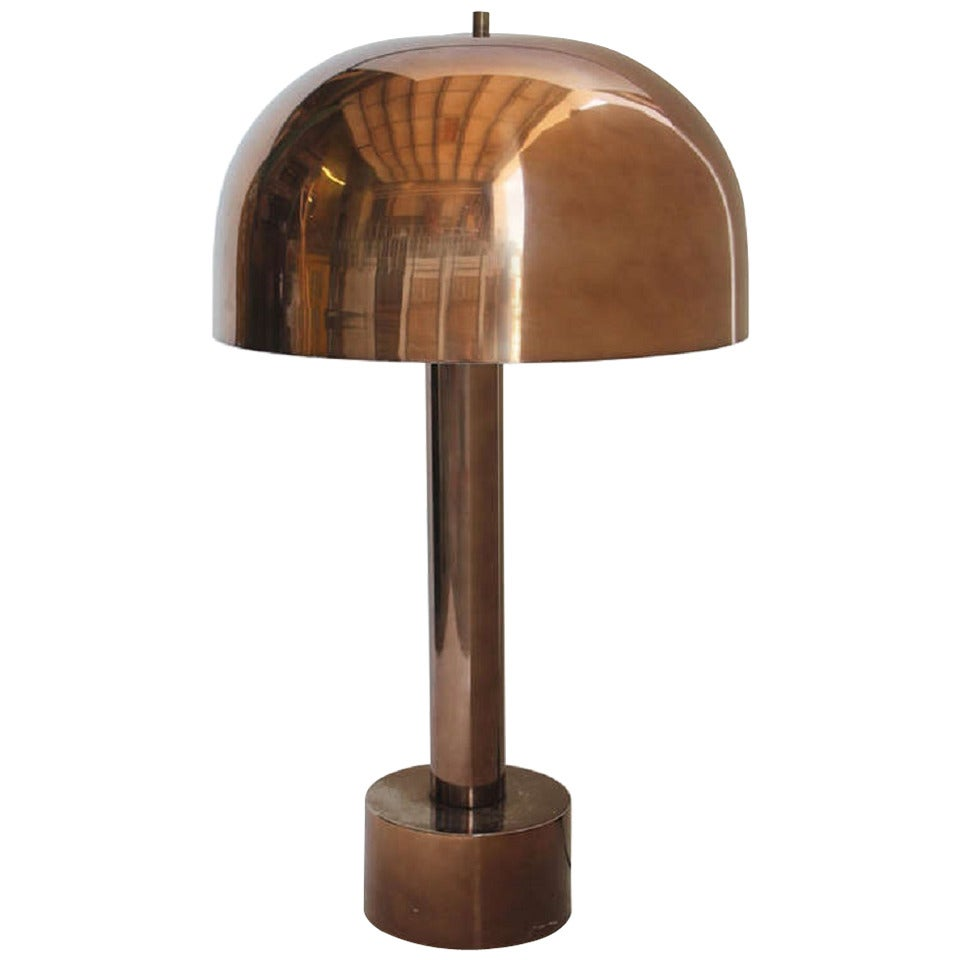 Mid Century Stylish Chrome Dome Desk Lamp By Laurel For ...