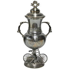 19th Century Silverplate Cycling Trophy