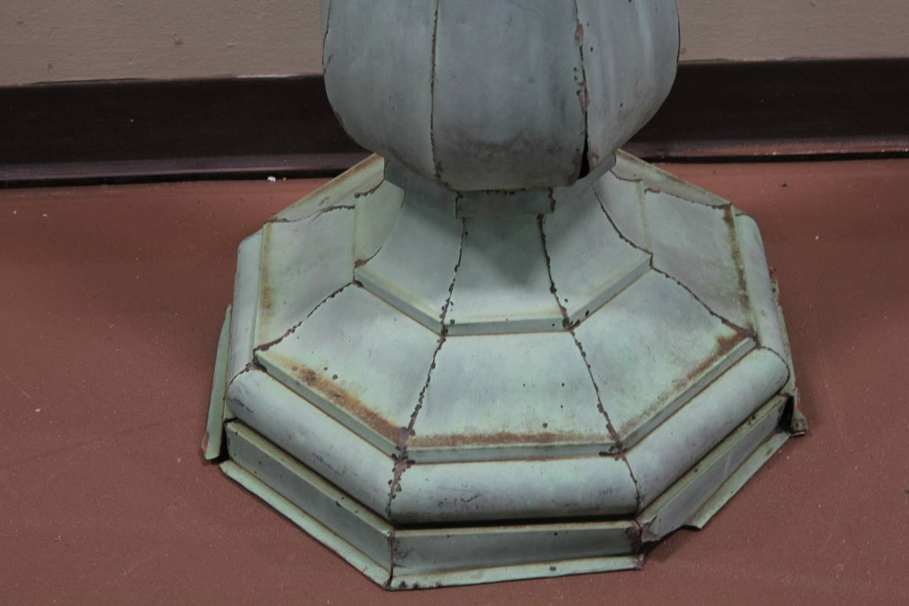 American Tall Antique Copper Roof Finial For Sale