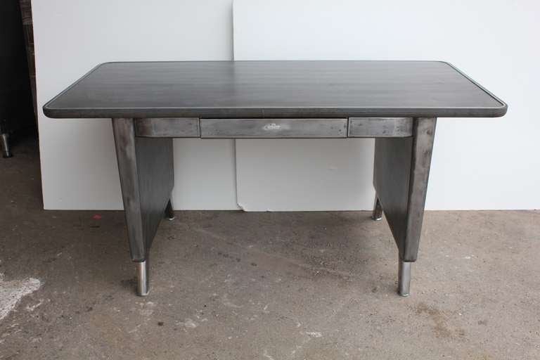 1950 S American Office Metal Tanker Desk At 1stdibs