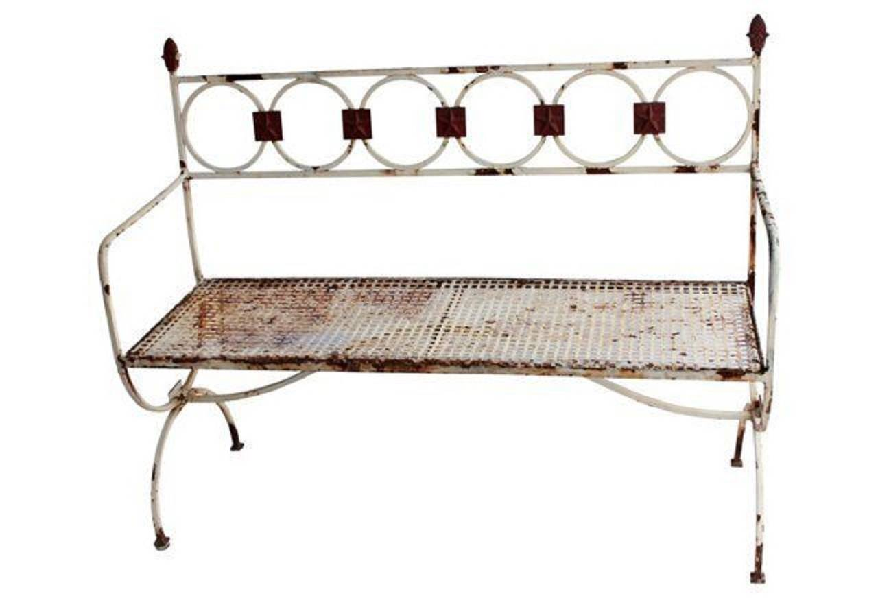 Antique French Metal Garden Bench For Sale At 1stdibs
