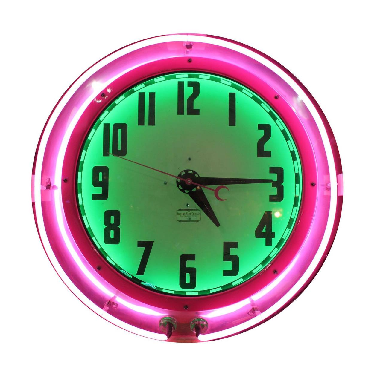 Large 1950s cleveland neon clock at 1stdibs large 1950s cleveland neon clock 1 amipublicfo Image collections