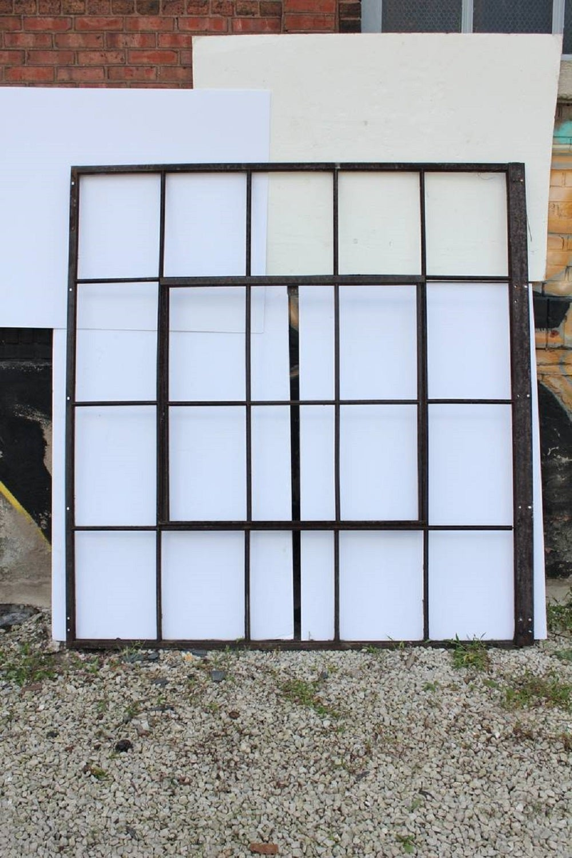 Large Antique Industrial Metal Casement Window, More