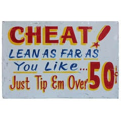 Vintage Carnival Sign Cheat!