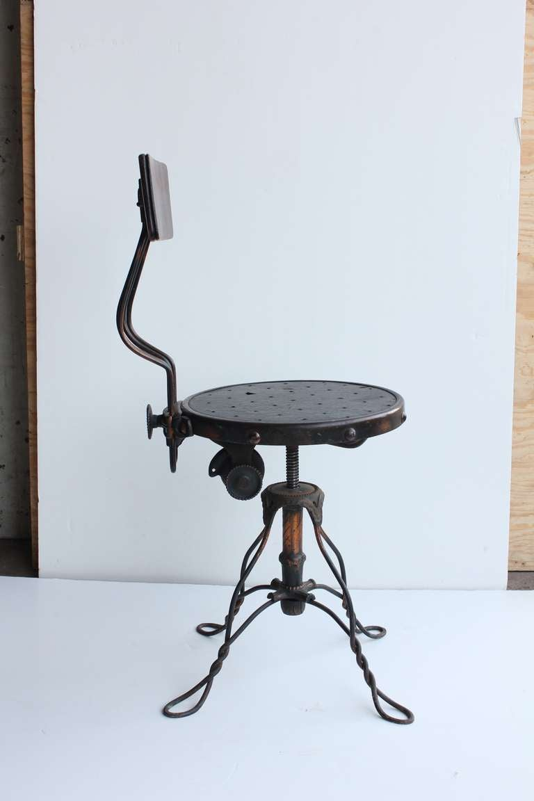 Antique Copper Swivel Desk Chair For Sale At 1stdibs
