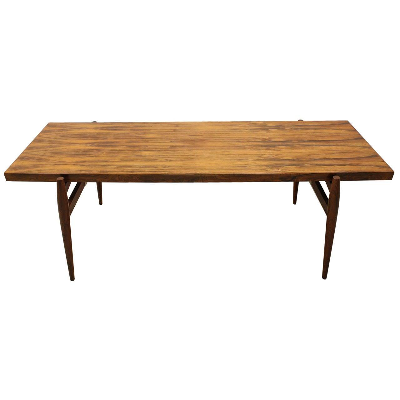 Mid-Century Larsen Style Rosewood Coffee Table