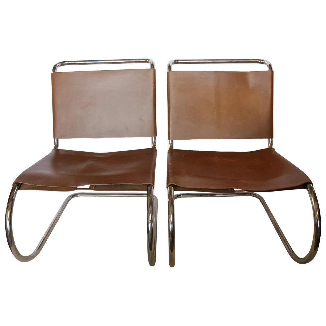 1950s MR Lounge Chairs By Mies Van Der Rohe At 1stdibs