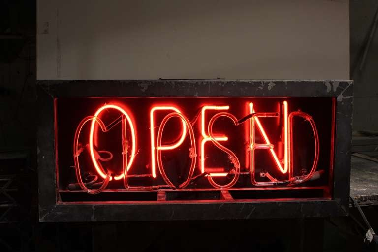 1930's Neon Open/Closed Sign 2