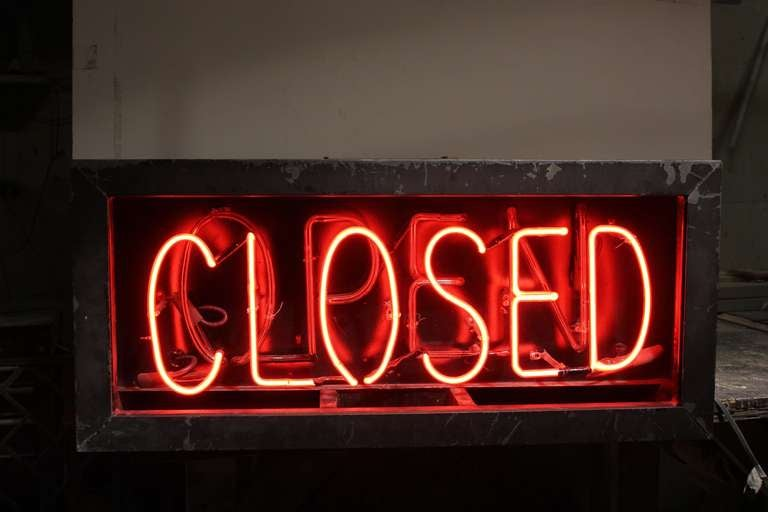 1930's Neon Open/Closed Sign 3