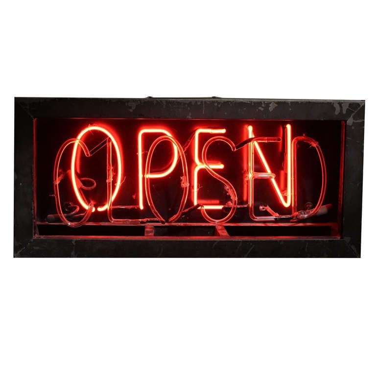 1930's Neon Open/Closed Sign 1