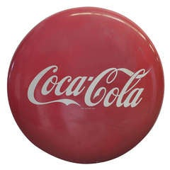 1950's Coca Cola Button Style Porcelain Sign