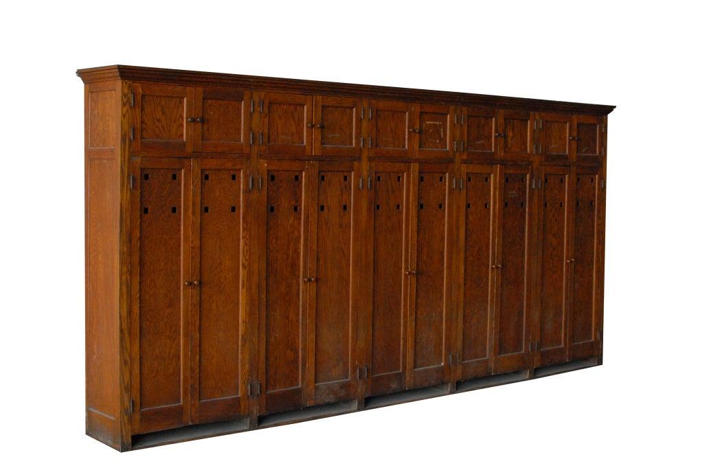 S american school wooden storage locker unit at stdibs