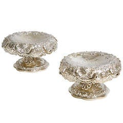 Pair of 18th Century English Sterling Compotes