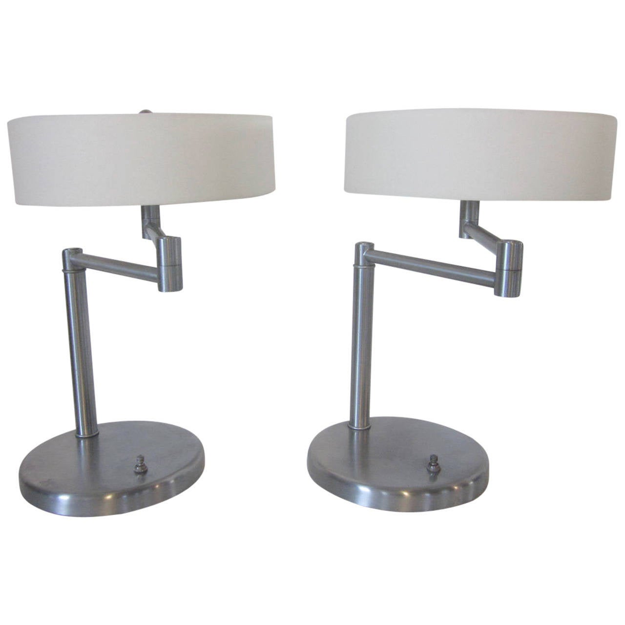 nessen swing arm table lamps at 1stdibs. Black Bedroom Furniture Sets. Home Design Ideas