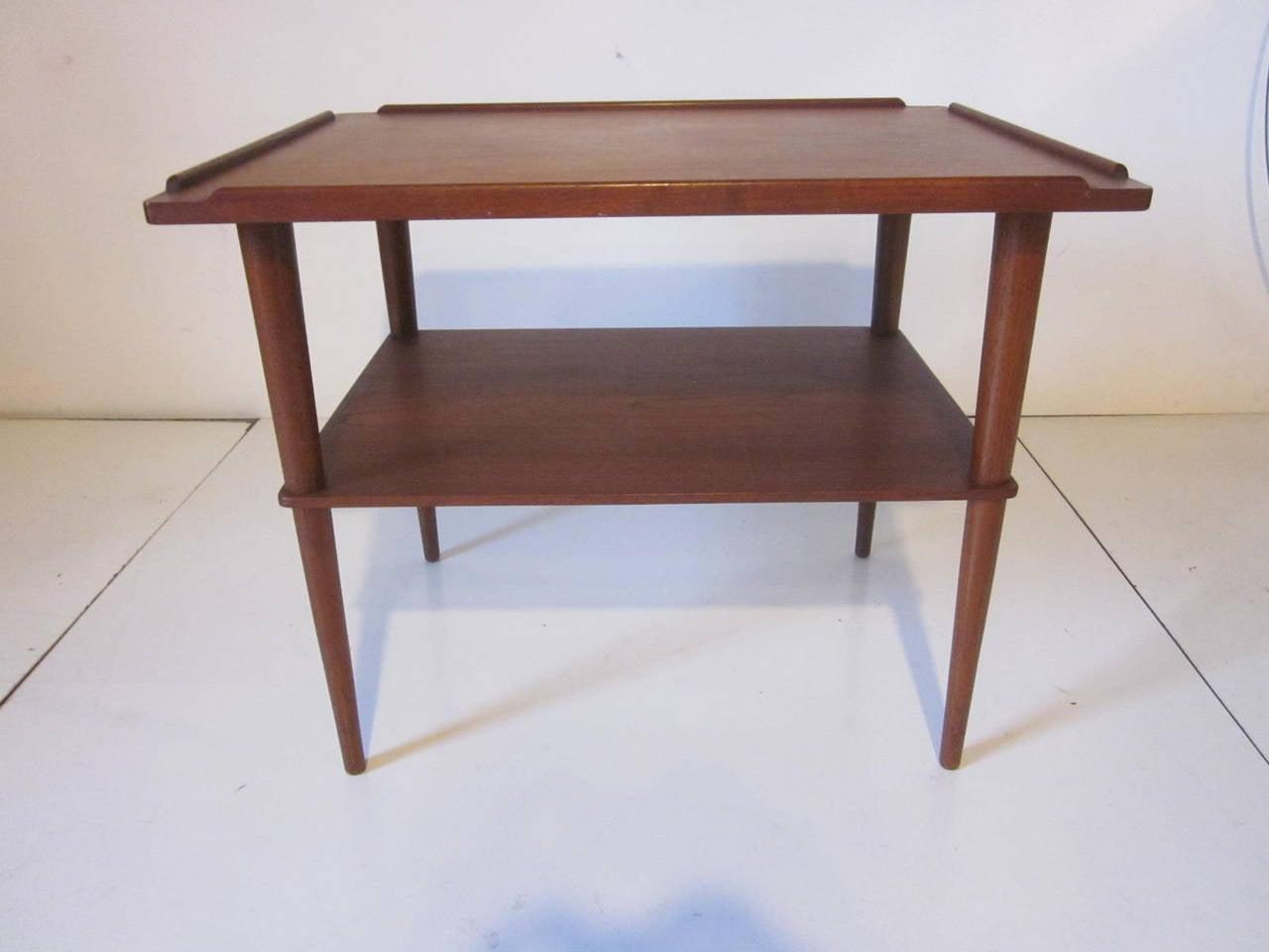 Mid-Century Modern Arne Hovmand-Olsen Danish Teak Wood Side Table For Sale