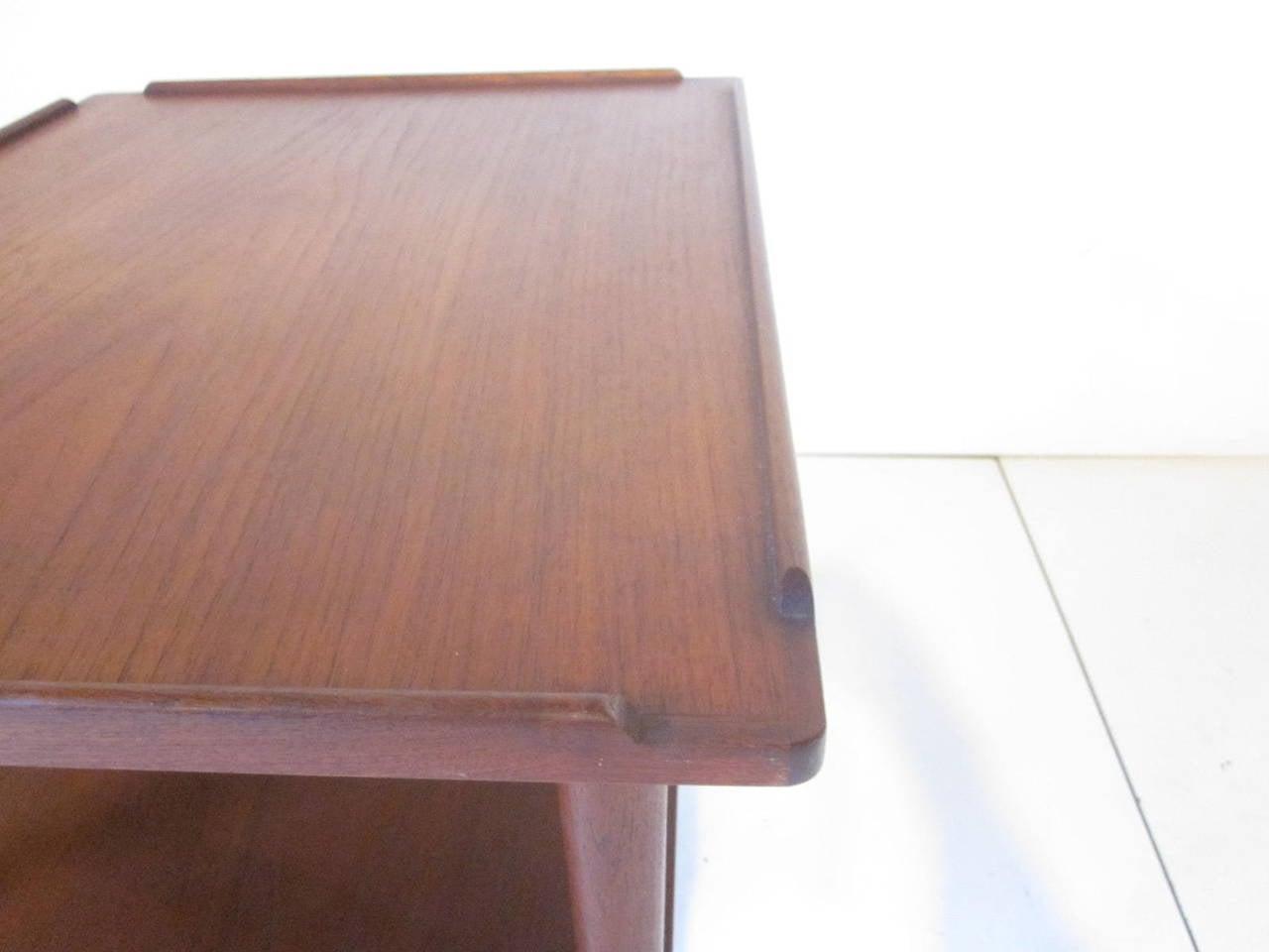 20th Century Arne Hovmand-Olsen Danish Teak Wood Side Table For Sale