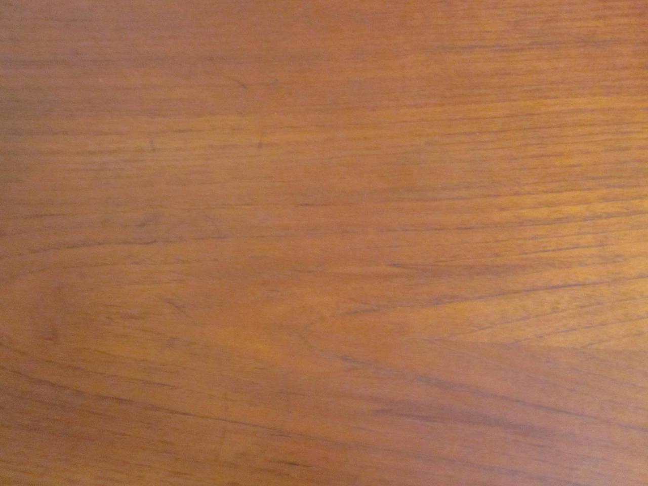 Arne Hovmand-Olsen Danish Teak Wood Side Table For Sale 1