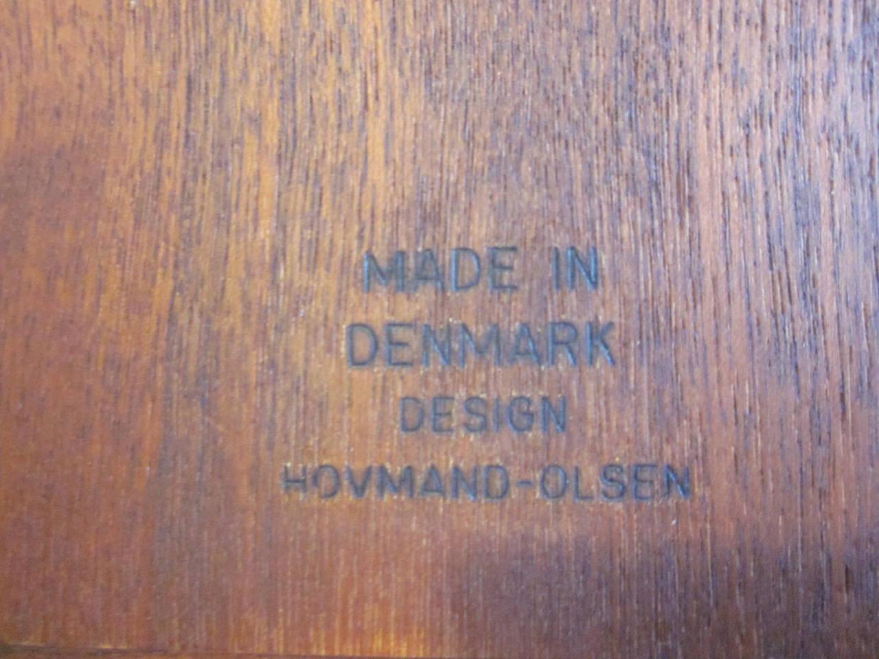 Arne Hovmand-Olsen Danish Teak Wood Side Table For Sale 2