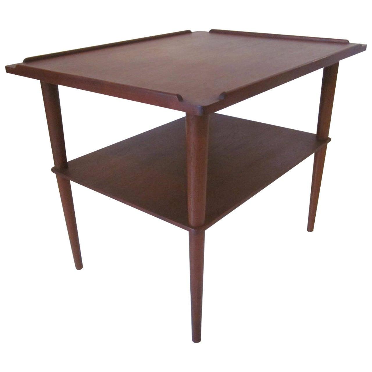 Elegant Arne Hovmand Olsen Danish Side Table For Sale