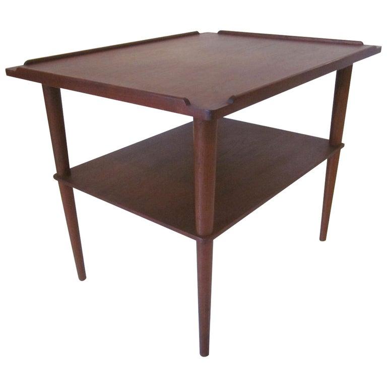 Arne Hovmand-Olsen Danish Teak Wood Side Table For Sale