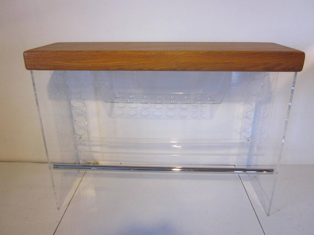 Lucite And Wood Bar At 1stdibs