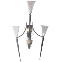 P. Marchand Monumental New York Theater Lighting Sconce In The Style Of Mategot