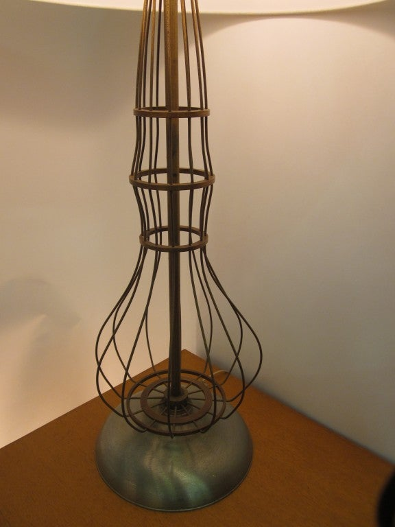 industrial brass fitted table lamp 3