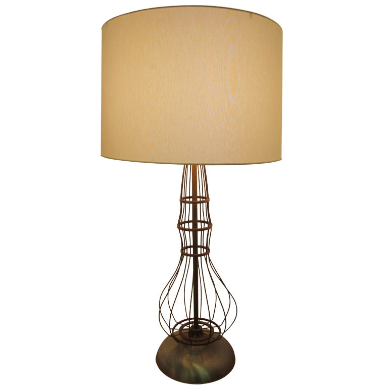 Industrial Brass Fitted Table Lamp For Sale At 1stdibs