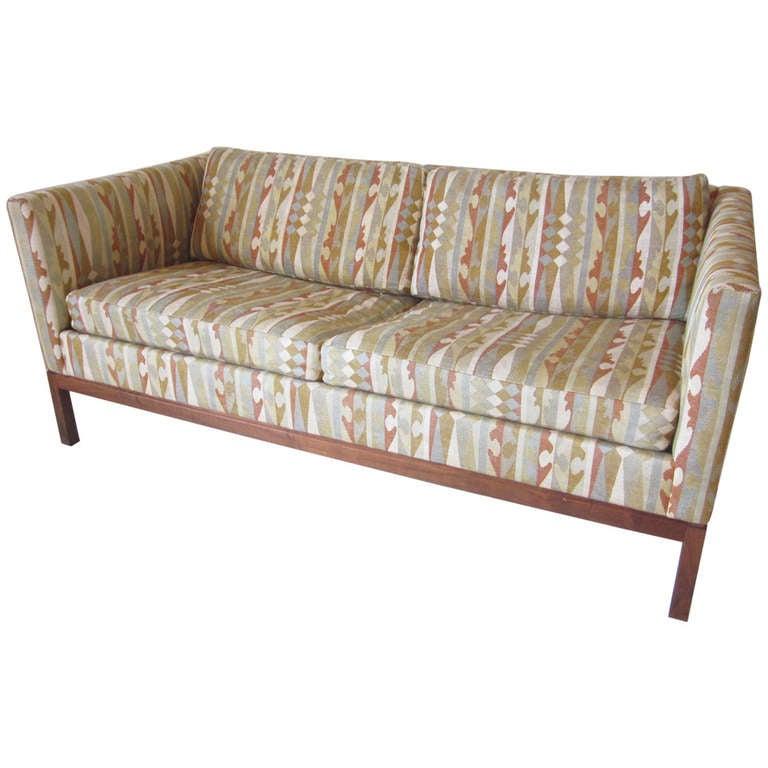 Amazing Boris Kroll Fabric Loveseat For Sale