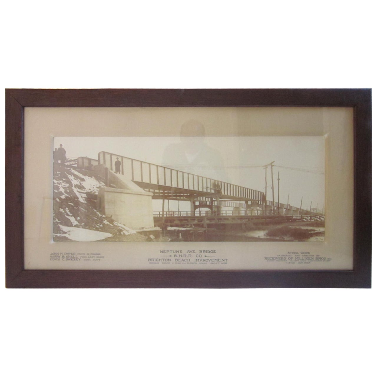 Large Brighton Beach NY Railroad Bridge Photo