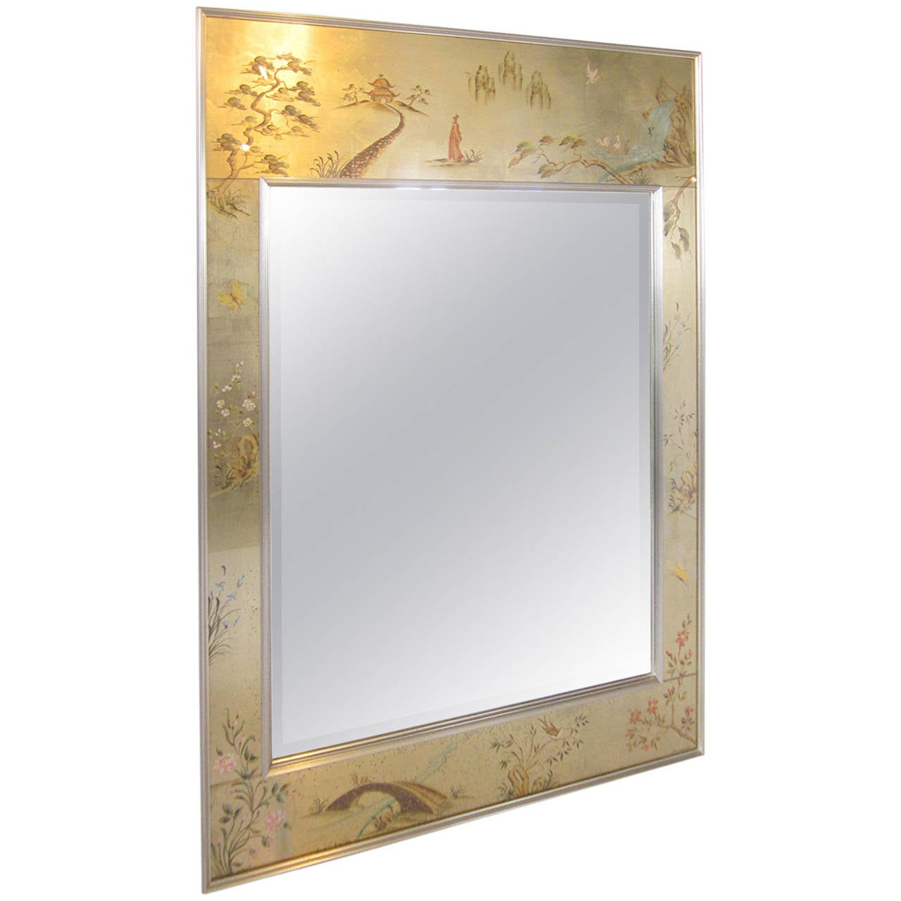La barge chinoiserie mirror for sale at 1stdibs for Mirrors for sale