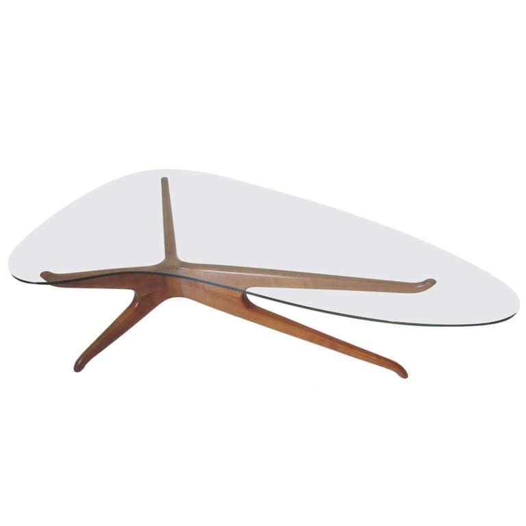 Kagan Inspired Coffee Table At 1stdibs