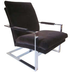 "Milo Baughman Lounge Chair Used in the Miles Davis movie ""Miles Ahead"""