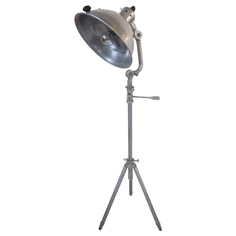 Industrial Aluminum Floor Lamp 1