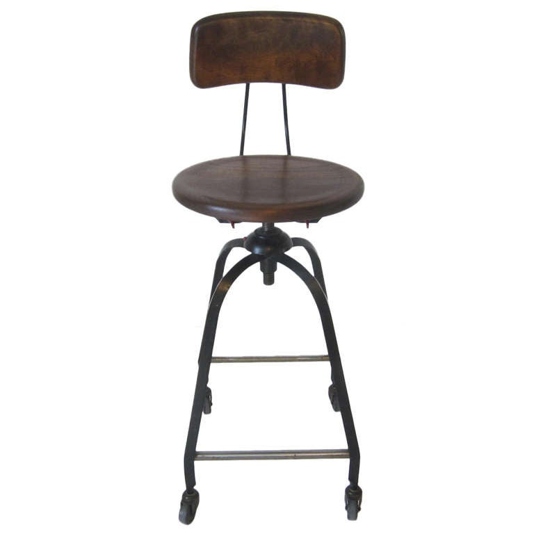 Industrial Tall Stool At 1stdibs