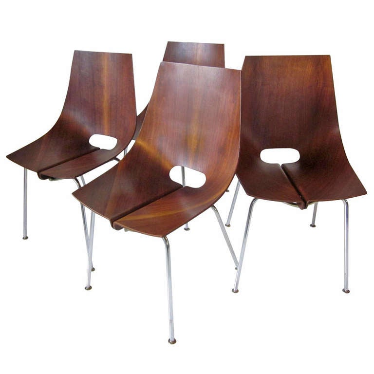 Bent walnut chairs at 1stdibs for S bent dining room furniture