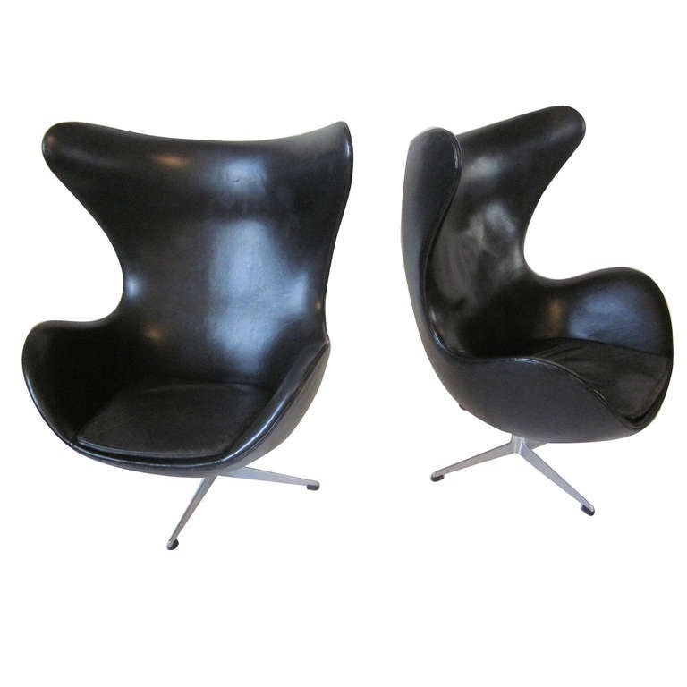 Arne Jacobsen Egg Chairs At 1stdibs