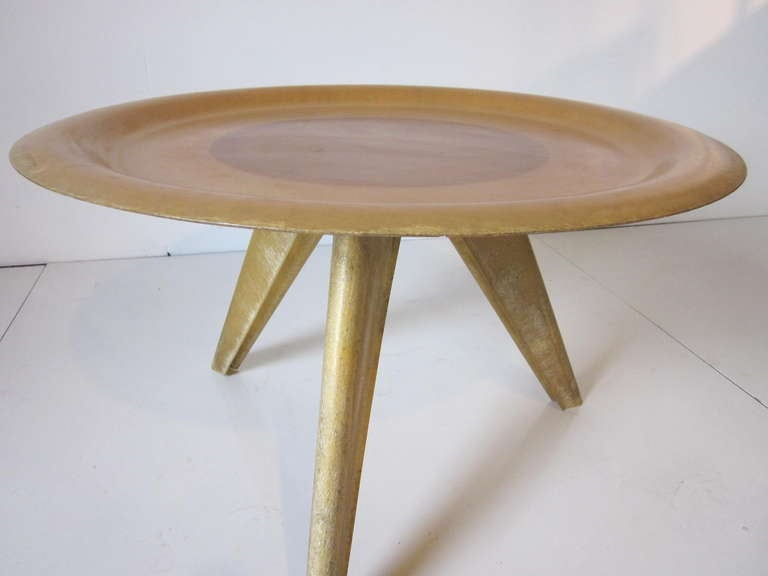 Molded Fiberglass Table In The Style Of Charles Eames For Sale At 1stdibs