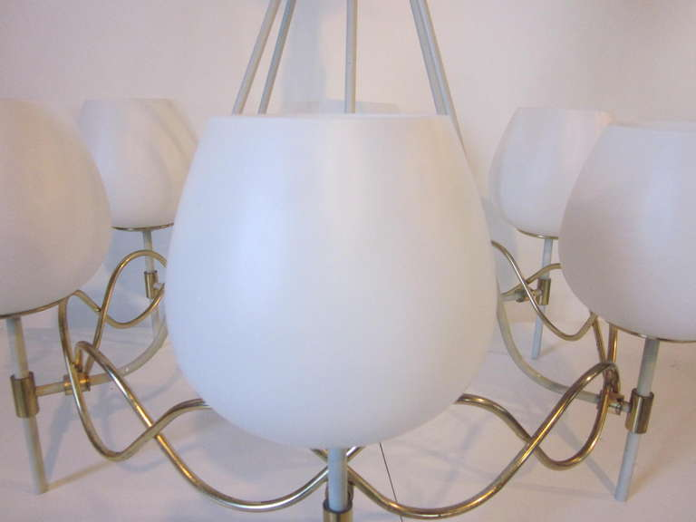 American French Styled Lightolier Chandelier For Sale