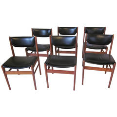 Arne Vodder Styled Danish Dining Chairs