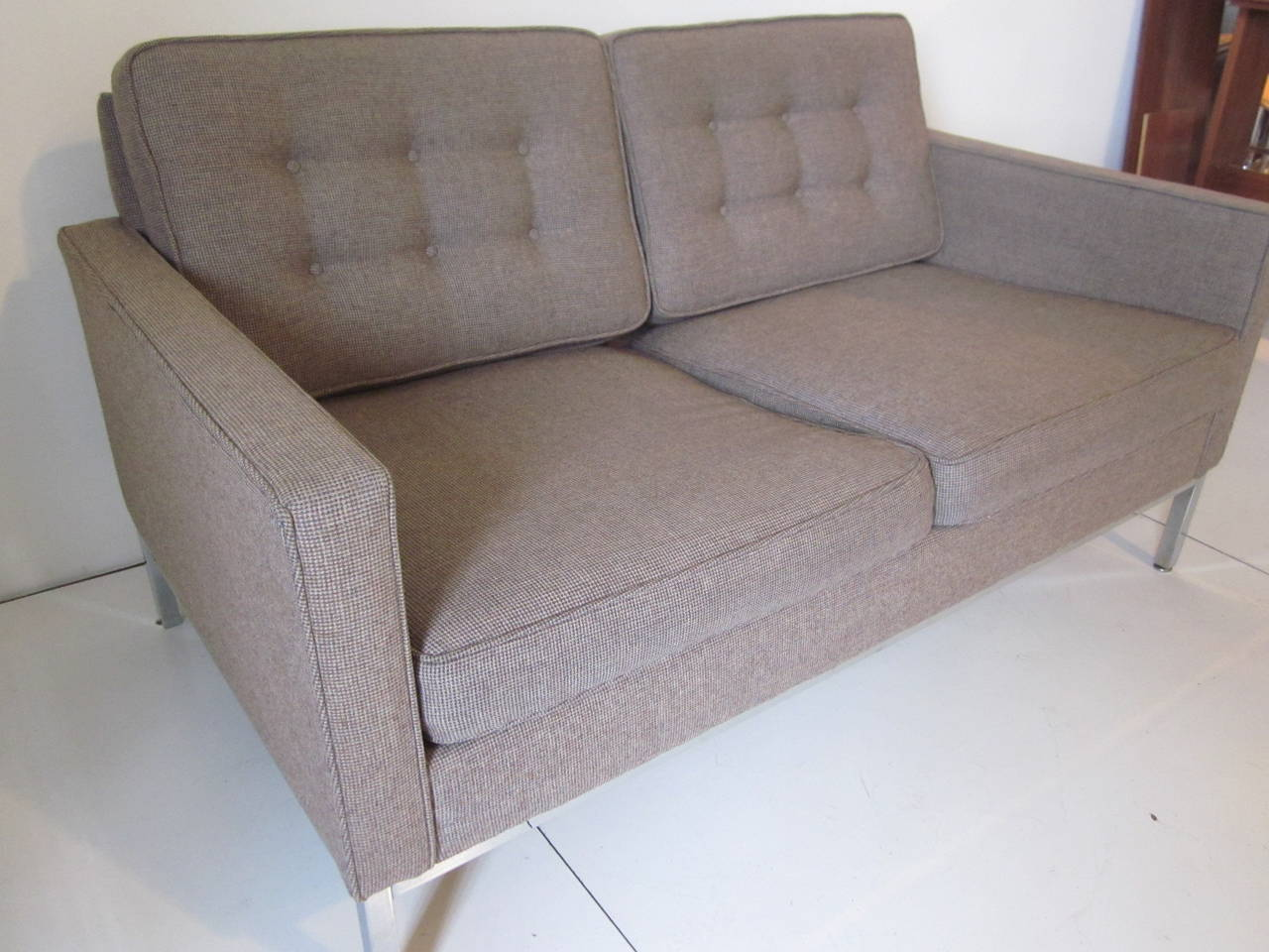Steelcase Florence Knoll Styled Loveseat At 1stdibs