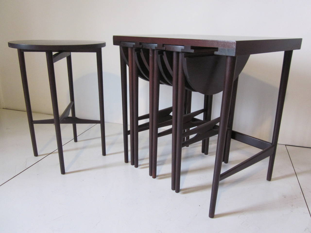 Bertha Schaefer Nesting Tables by Singer and Sons For Sale 1