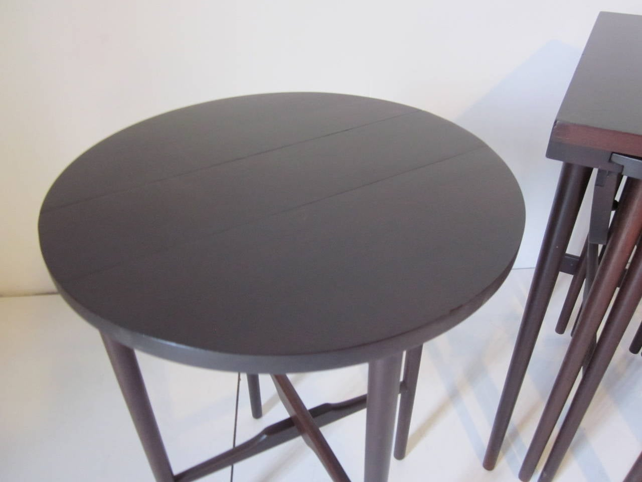 Mid-Century Modern Bertha Schaefer Nesting Tables by Singer and Sons For Sale