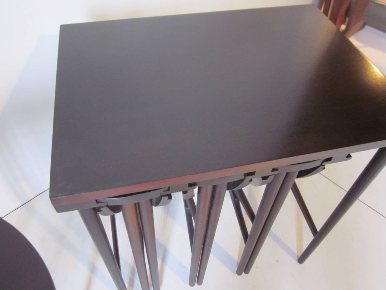 Danish Bertha Schaefer Nesting Tables by Singer and Sons For Sale