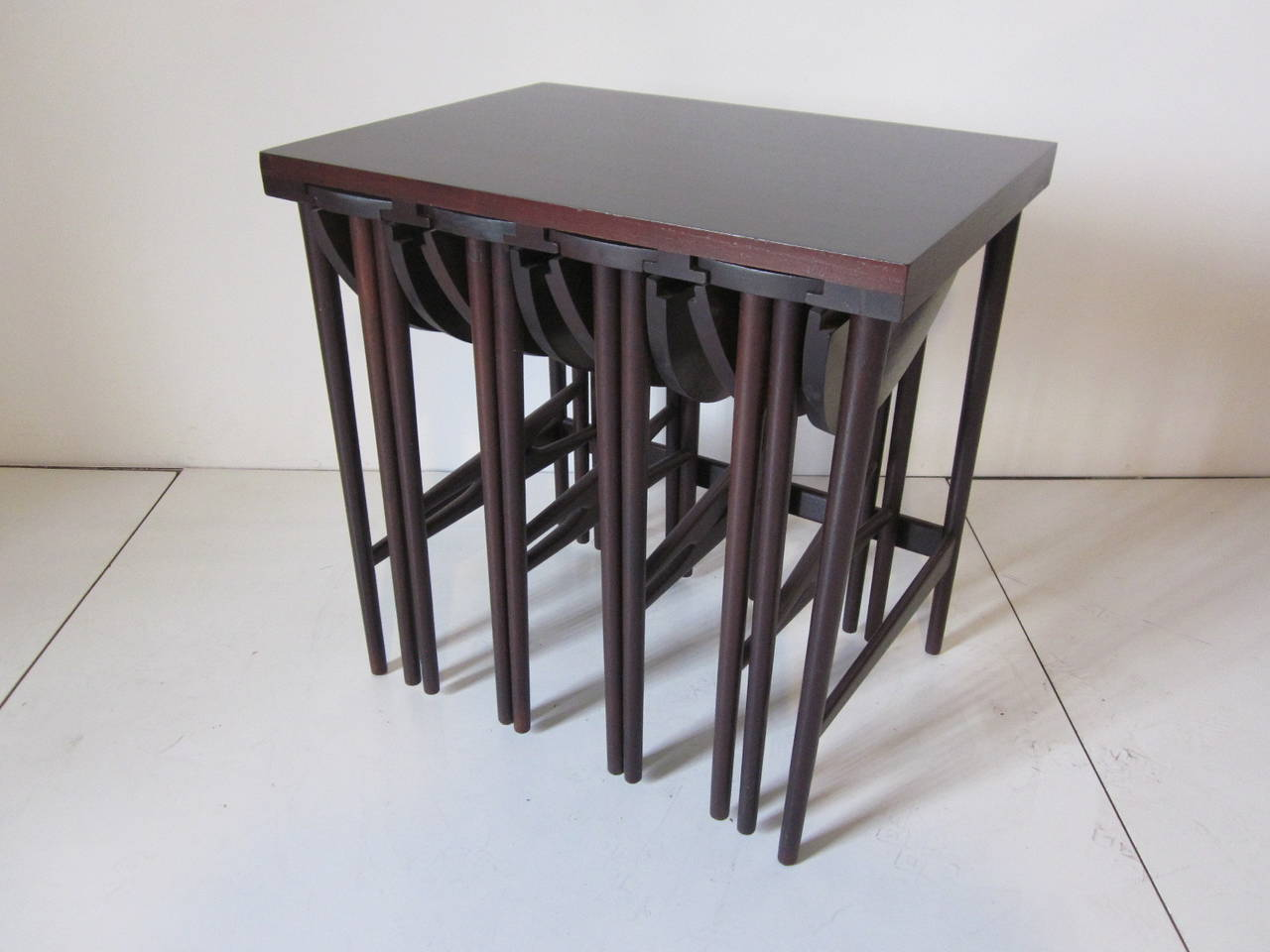 20th Century Bertha Schaefer Nesting Tables by Singer and Sons For Sale